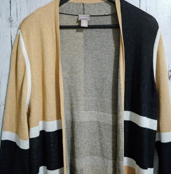 🍂Chico's Long Sleeve Tan Colorblock Cardigan